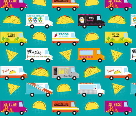 Taco Truck Tuesday fabric by lellobird on Spoonflower - custom fabric