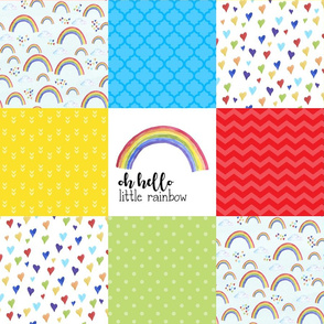 Oh Hello Little Rainbow//Rainbow Baby - Wholecloth Cheater Quilt