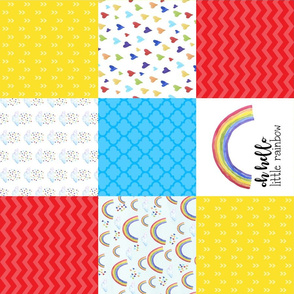 Oh Hello Little Rainbow/Rainbow Baby - Wholecloth Cheater Quilt - Rotated