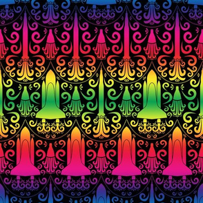 Rocket Damask (Rainbow)
