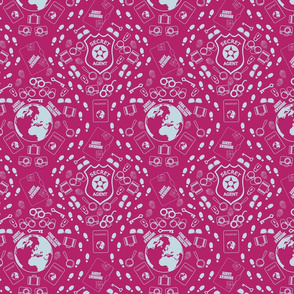 agent awesome damask pink