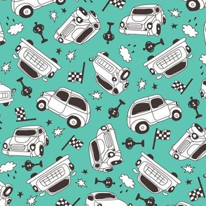 cars_pattern_white