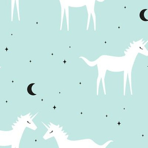 Unicorn - Mint Background
