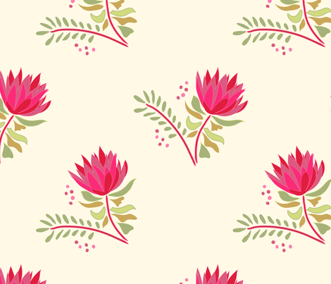 Pretty Protea fabric by kariliz on Spoonflower - custom fabric