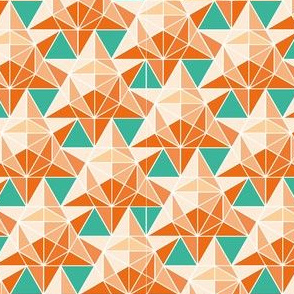 Maths Star Tile in orange
