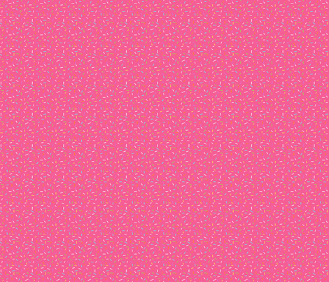 Rainbow Sprinkles on bright pink fabric by hazelfishercreations on Spoonflower - custom fabric