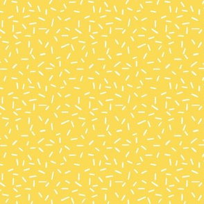 White Sprinkles on Yellow