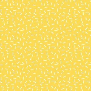 White Sprinkles on Yellow