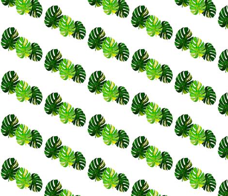 Watercolor Monstera leaves 2 fabric by marta_caldas on Spoonflower - custom fabric
