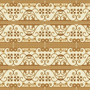 Golden Royal Arabic Pattern