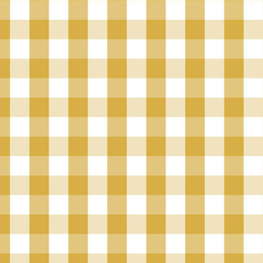 Designer Spicy Mustard Yellow Gingham Check