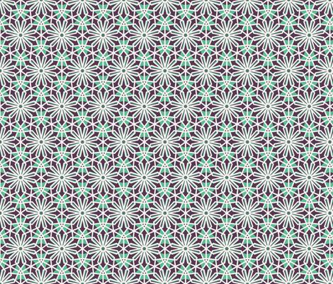 Mosaic Hexagonal Arabic Pattern fabric by dacascas on Spoonflower - custom fabric