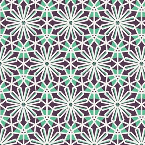 Mosaic Hexagonal Arabic Pattern
