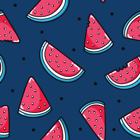 watermelons fabric by yuliia_studzinska on Spoonflower - custom fabric
