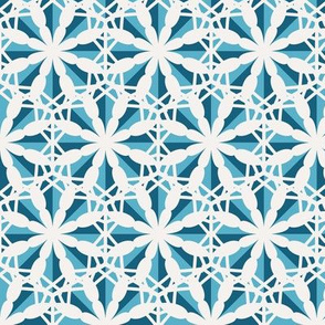 Mosaic Hexagonal Asian Pattern