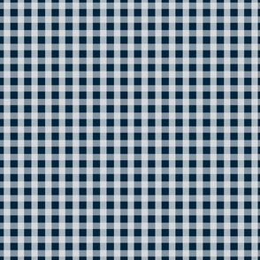 Midnight Blue Gingham Check