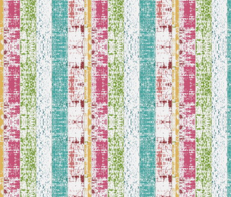 Beach Stripes Whitewash 8 vertical -lagoon tropics fabric by drapestudio on Spoonflower - custom fabric