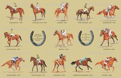 13 Triple Crown Winners khaki medium