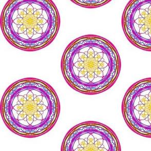 Violet Vibrance Floral Spots