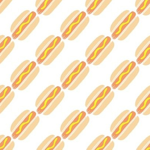 hot dog stripes- small scale
