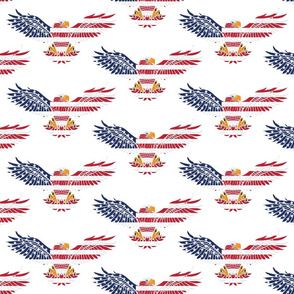 American Eagle Large Pattern 2 on White