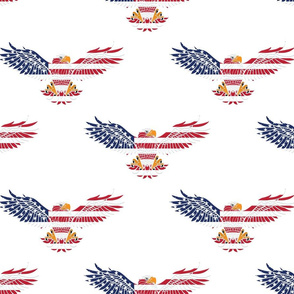 American Eagle Large Pattern on White