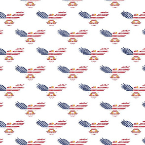 American Eagle Medium Pattern on White