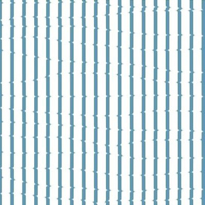 Smudged stripes in blue
