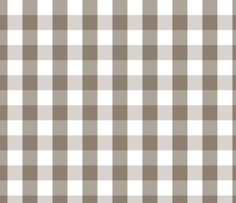 Mulch Brown  Gingham Check Plaid fabric by paper_and_frill on Spoonflower - custom fabric