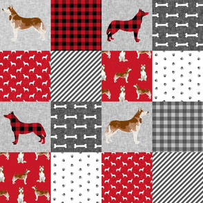 husky red coat cheater pet quilt a dog fabric quilts