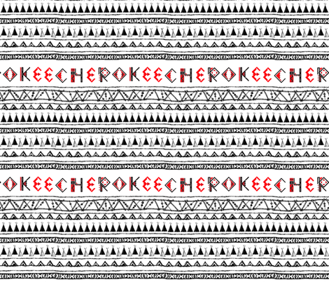 Native American Cherokee B&W Stripe fabric by fabric_is_my_name on Spoonflower - custom fabric