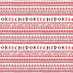 Native American Cherokee Tribal Stripe Red