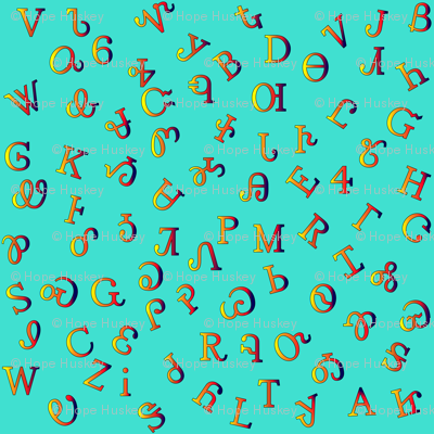 Fire Colors Syllabary