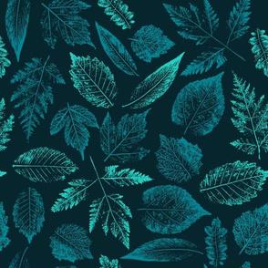 Leaf prints.