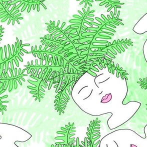 Fern-tastic Girls in Neon Green
