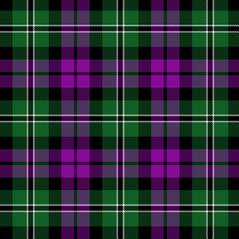 "Wilson's tartan #175, 3"" purple/green fabric by weavingmajor on Spoonflower - custom fabric"