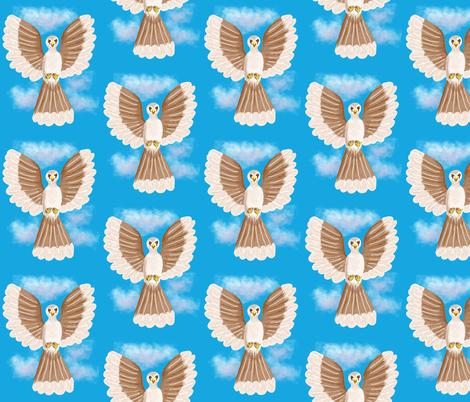 Avian Angel fabric by dulciart,llc on Spoonflower - custom fabric
