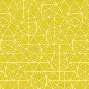 Maths Star Line Drawing in yellow