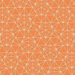 Maths Star Line Drawing in orange