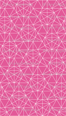 Maths Star Line Drawing in pink