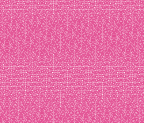 Maths Star Line Drawing in pink fabric by lena_pugachova on Spoonflower - custom fabric