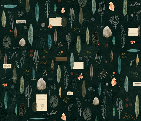 Gathering in the Emerald Forest {small} fabric by katherine_quinn on Spoonflower - custom fabric