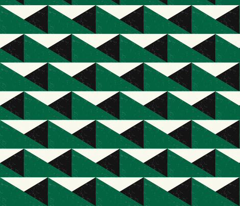 TRIANGULOS-green and ivory - 20181002 fabric by marcador on Spoonflower - custom fabric