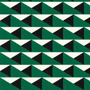 TRIANGULOS-green and ivory - 20181002