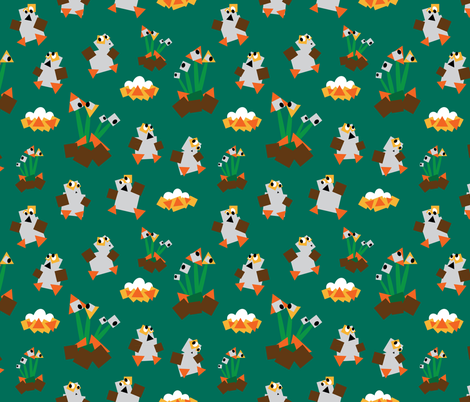 Cubic Porgs fabric by the_wookiee_workshop on Spoonflower - custom fabric