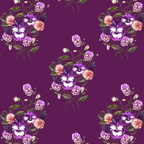 Pansy Deep Purple Rich Plum
