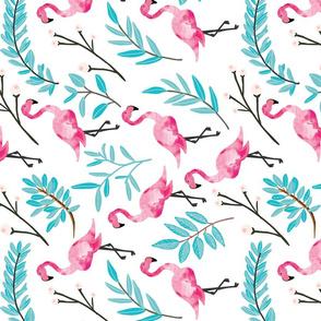 Pink Flamingos in Shade // rotated