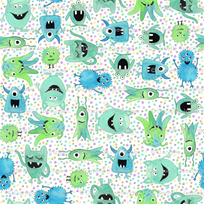 Funny monsters - dots