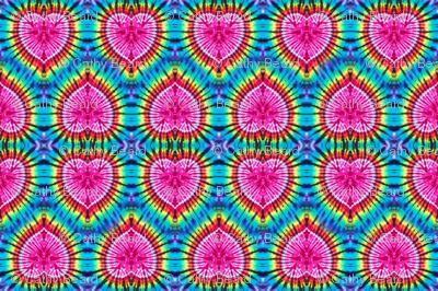 Pink Rainbow Hearts