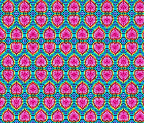 Pink Rainbow Hearts fabric by just_meewowy_design on Spoonflower - custom fabric